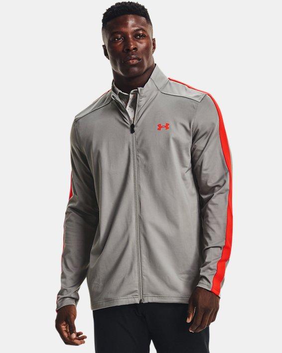 Men's UA Storm Midlayer Full-Zip Golf Jacket, Gray, pdpMainDesktop image number 0