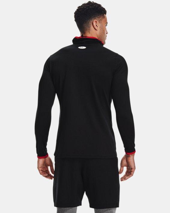 Men's ColdGear® SPORTSMASK Mock Long Sleeve, Black, pdpMainDesktop image number 2