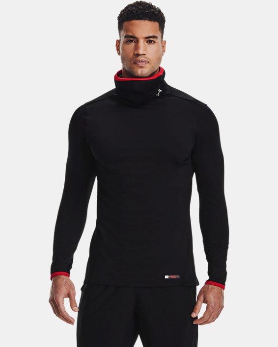 Men's ColdGear® SPORTSMASK Mock Long Sleeve, Black, pdpMainDesktop image number 0