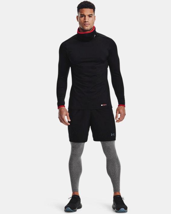 Men's ColdGear® SPORTSMASK Mock Long Sleeve, Black, pdpMainDesktop image number 1