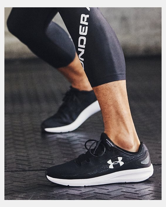 Men's UA Charged Pursuit 2 Running Shoes, Black, pdpMainDesktop image number 0