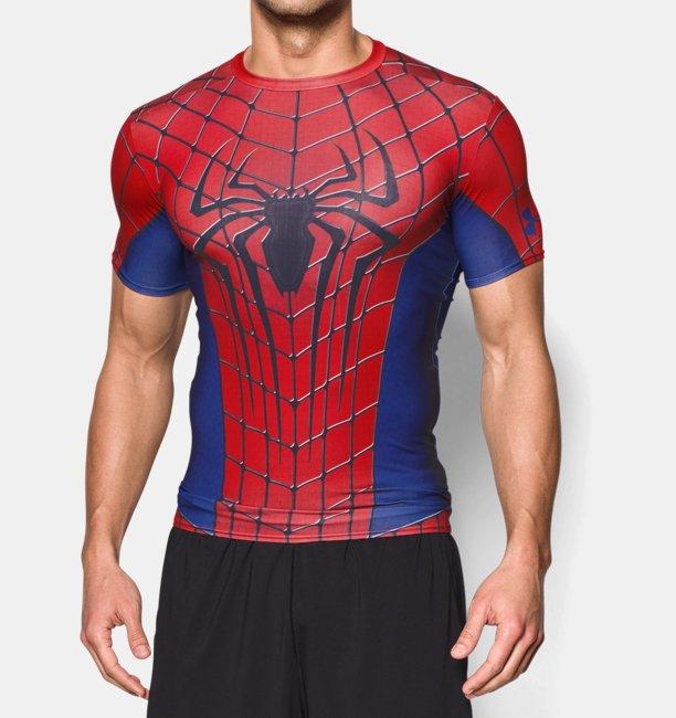Men 39 s under armour transform yourself spider man for Bulk under armour shirts