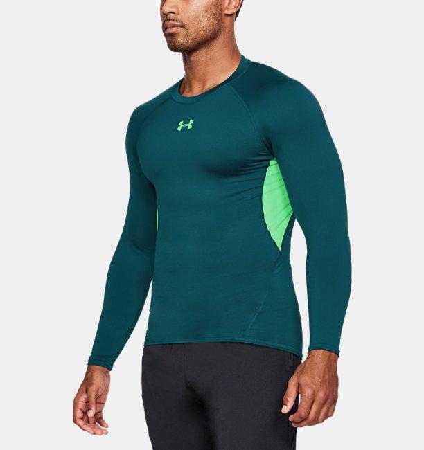 Men 39 s ua heatgear armour long sleeve compression shirt for Bulk under armour shirts