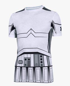 3766073cde461 Polera de compresión UA Star Wars Storm Trooper para niño