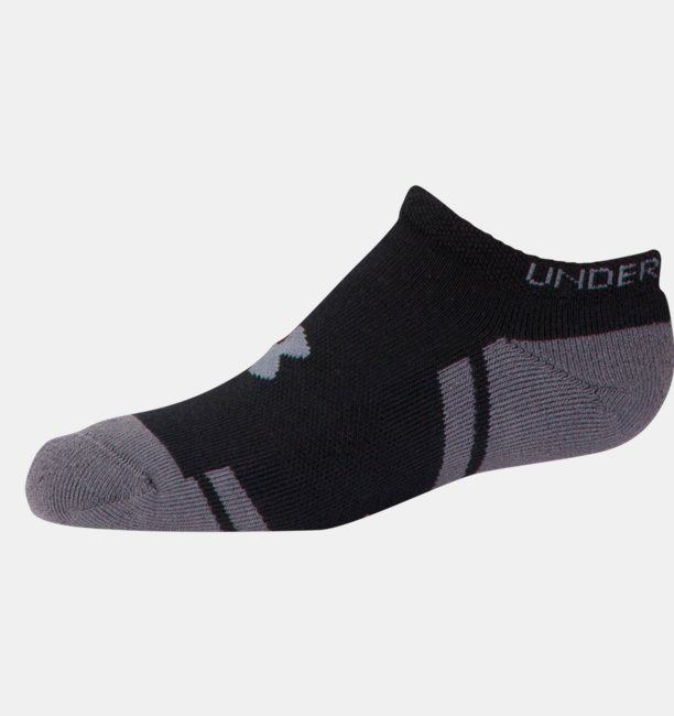 Boys UA Resistor III No Show Socks - 6-Pack