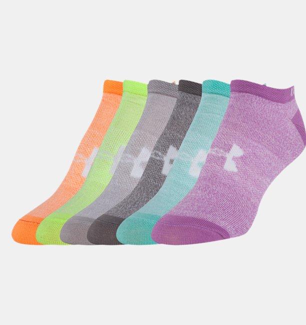Women's UA Solid No Show Socks 6-Pack