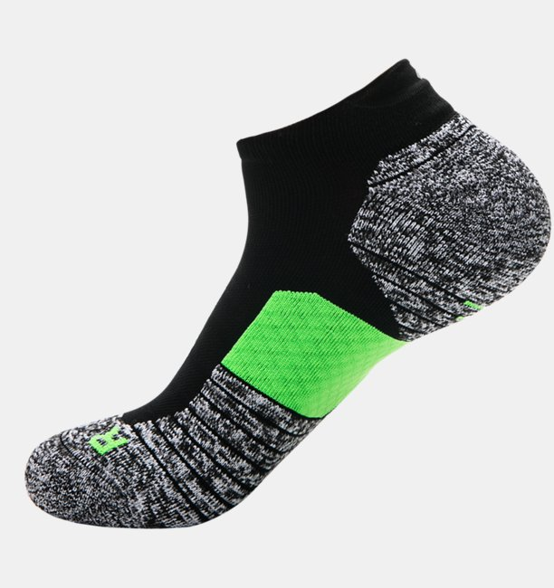 Mens UA Charged Cushion No Show Tab Socks