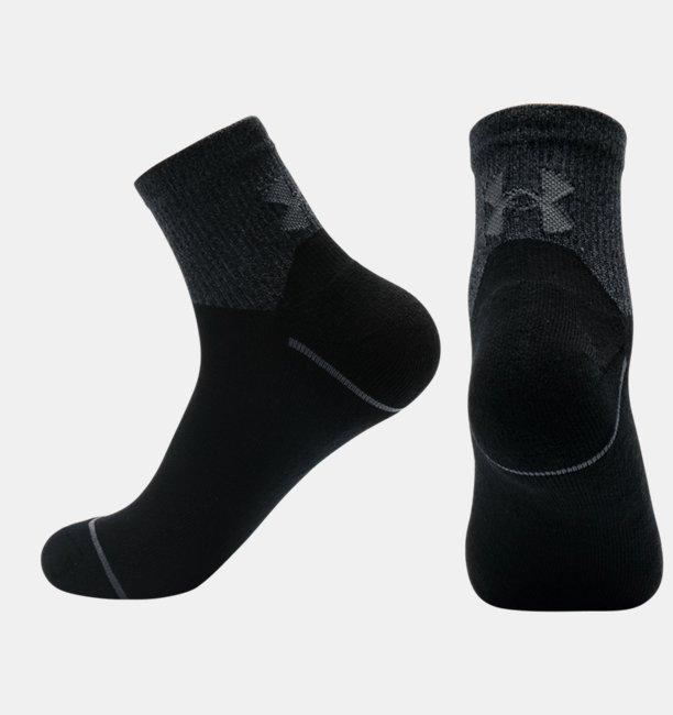 Mens UA Phenom Quarter – 3-Pack Socks
