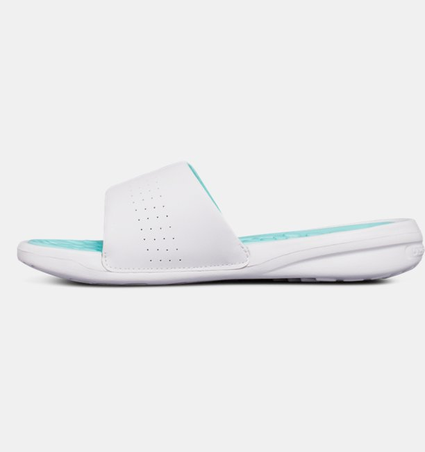 Chinelo UA Playmaker Fixed Strap Slides Feminino