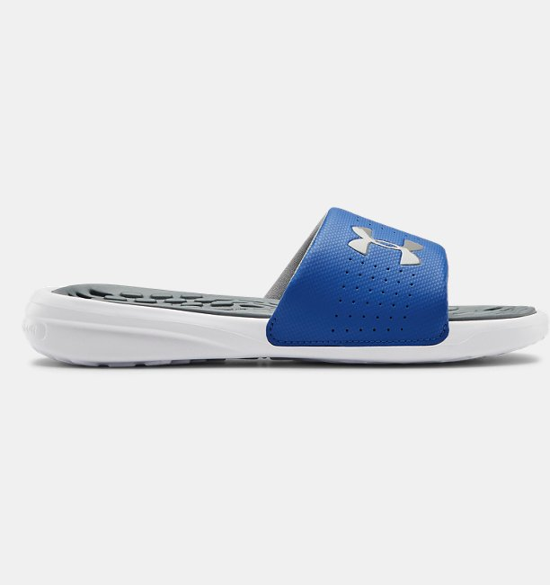 Boys UA Playmaker Fixed Strap Slides
