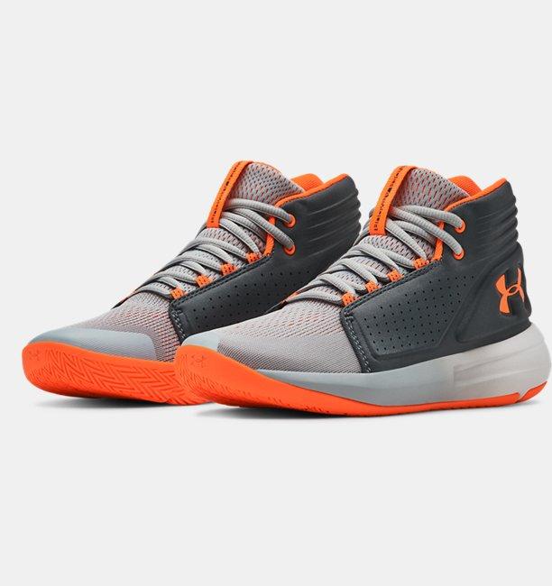 Sepatu Basket Grade School UA Torch Mid untuk Pria Muda