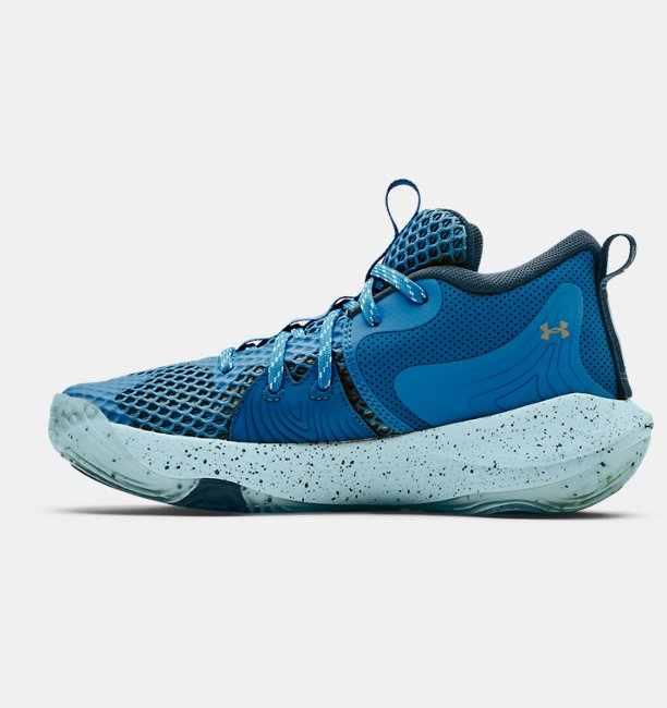 Grade School UA Embiid One Basketball Shoes