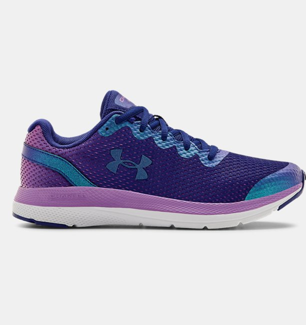 Girls Grade School UA Charged Impulse Frosty Running Shoes