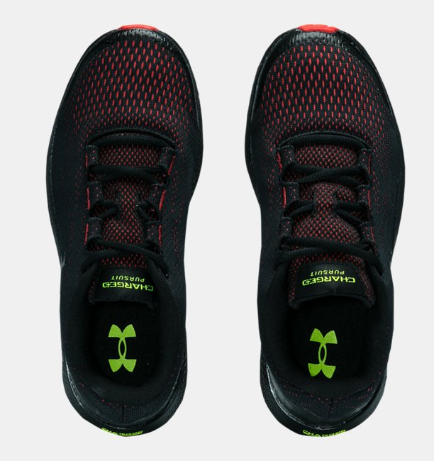 Boys Grade School UA Charged Pursuit 2 Venom Running Shoes