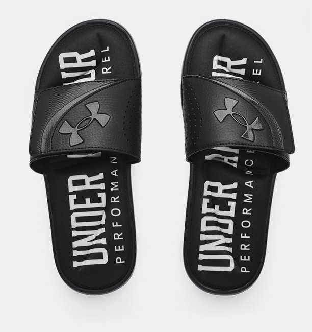 Mens UA Ignite VI Graphic Strap Slides