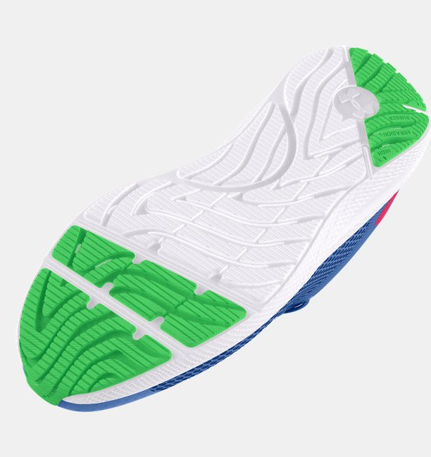 Girls Grade School UA Charged Pursuit 2 Big Logo Running Shoes
