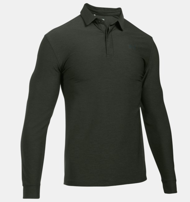 Mens UA Playoff Long Sleeve Polo