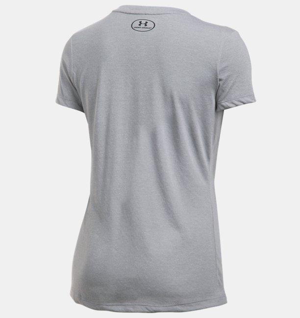 Camiseta Gola V UA Threadborne Train Twist - Feminina