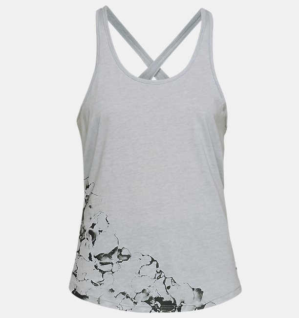 Womens UA Ink Formation Graphic Crossback Tank