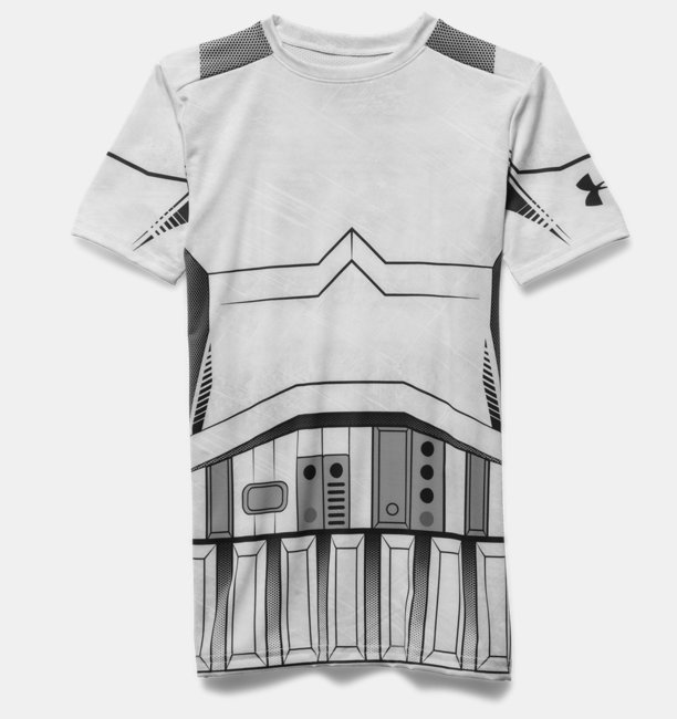 Camiseta de Compressão Infantil Masculina Under Armour Star Wars Storm Trooper