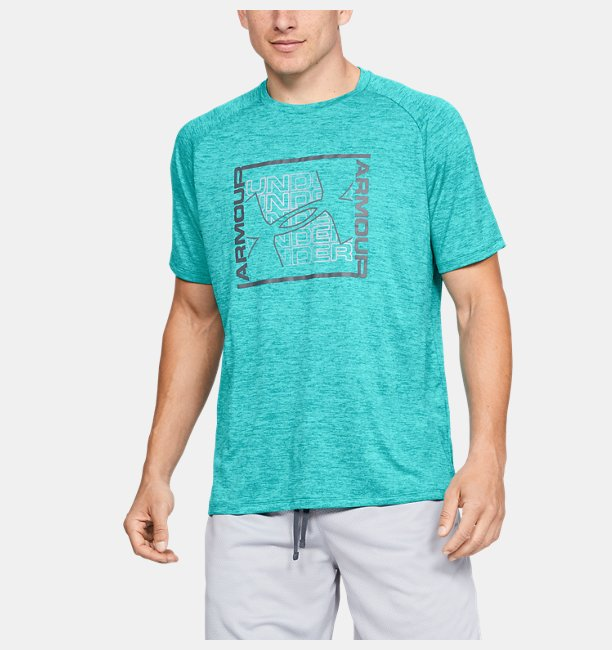 Mens UA Tech™ Graphic Short Sleeve T-Shirt
