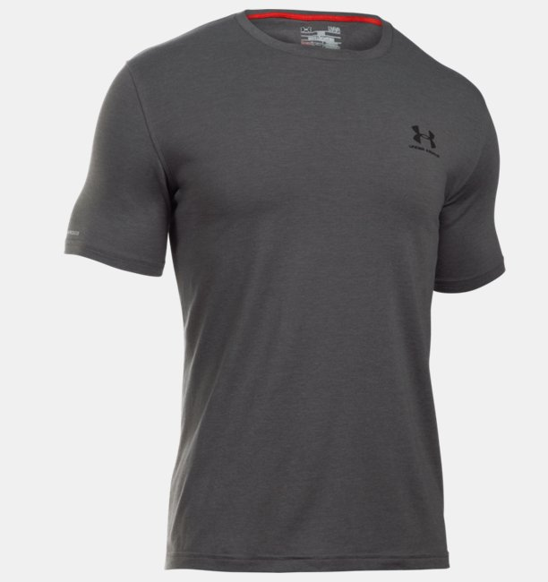 Heren t shirt ua sportstyle left chest logo under armour nl for T shirt left chest logo size