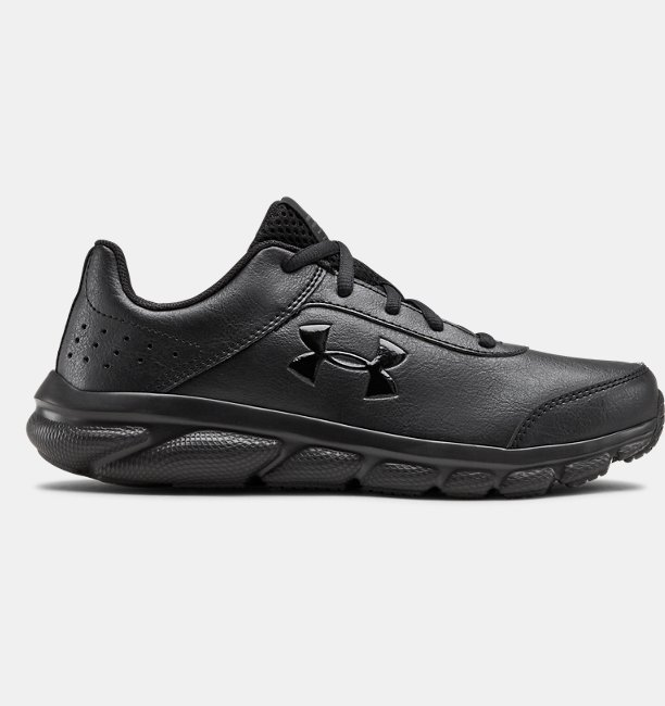 Under Armour Primary School UA Assert 8 Uniform Synthetic Running Shoes Black 36.5