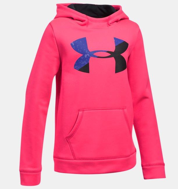 Sweat à capuche UA Armour® Fleece Big Logo pour fille