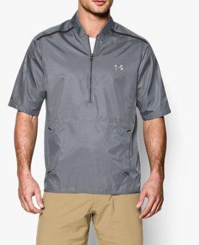 Men's UA Tips Short Sleeve Golf Rain Shirt