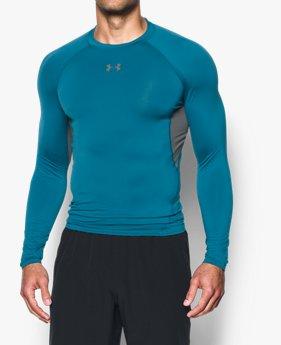 남성 UA HeatGear® 아머 긴팔 컴프레션 셔츠