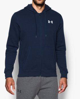 Men's UA Rival Fleece Fitted Full Zip Hoodie