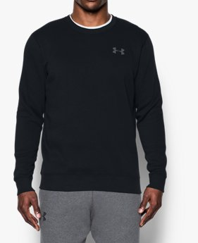Men's UA Rival Fleece Solid Fitted Crew