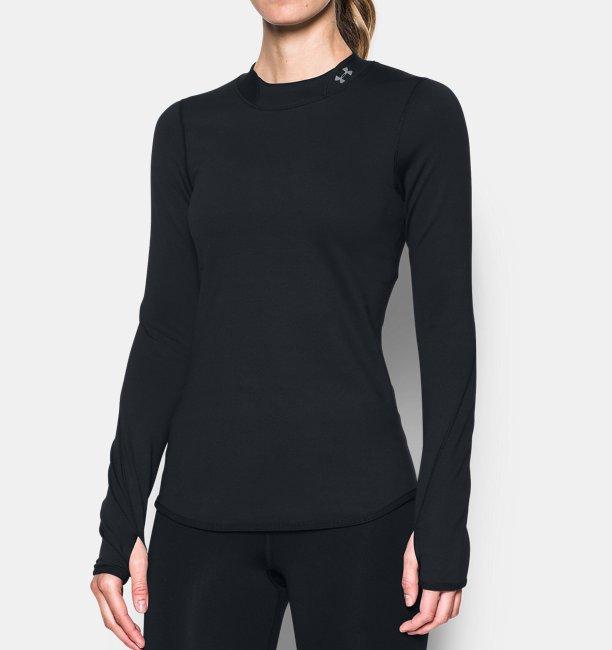 a81ccbc6f8e8b Under Armour Camiseta ajustada con cuello cerrado ColdGear® Armour para  mujer