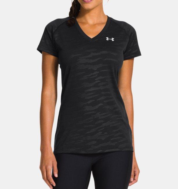 acd490c6aa235a Damen T-Shirt mit V-Ausschnitt UA Tech™ kurzärmlig