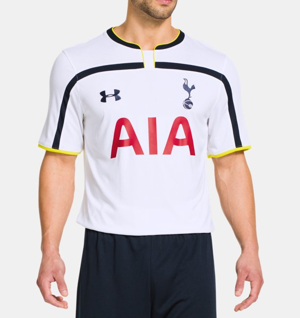 6a422d02f Men s Tottenham Hotspur 14 15 Home Replica Short Sleeve Shirt ...