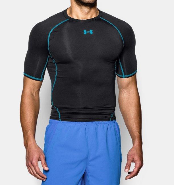 Mens HeatGear® Armour Short Sleeve Compression Shirt