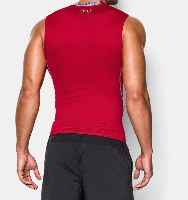 Mens UA HeatGear® Armour Sleeveless Compression Shirt