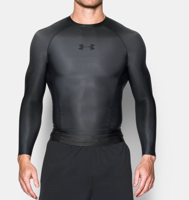 Mens UA Charged Compression Long Sleeve Shirt