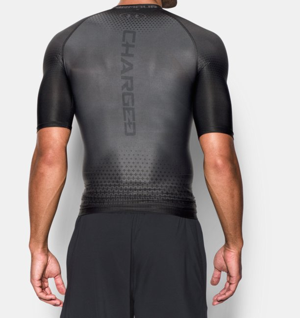 Mens UA Charged Compression Short Sleeve Shirt