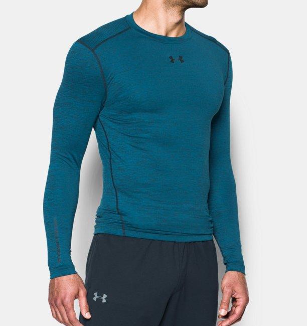 86e45fb11d3 Camiseta de compresión de cuello redondo UA ColdGear® Armour difuminada para  hombre