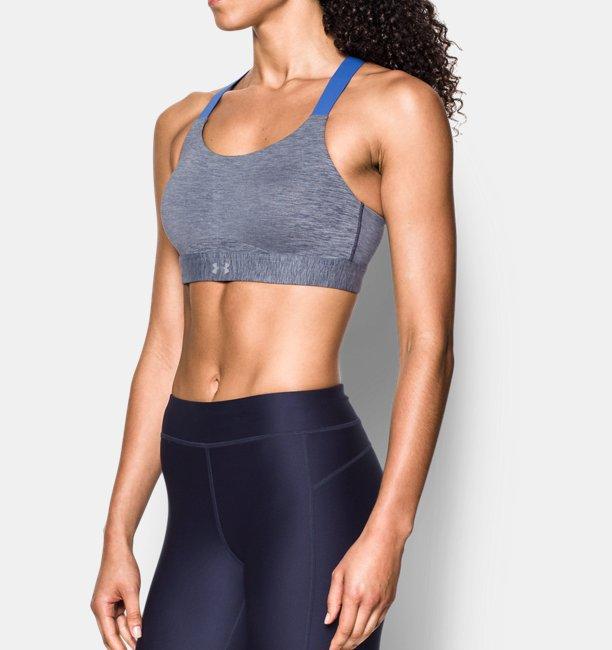 Womens Armour® Eclipse High Heathered Sports Bra