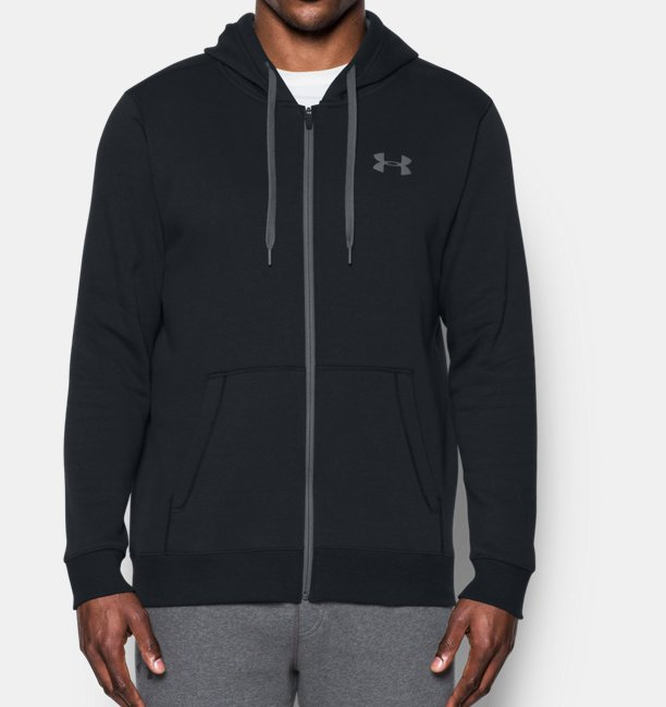 Mens UA Rival Fleece Fitted Full Zip Hoodie