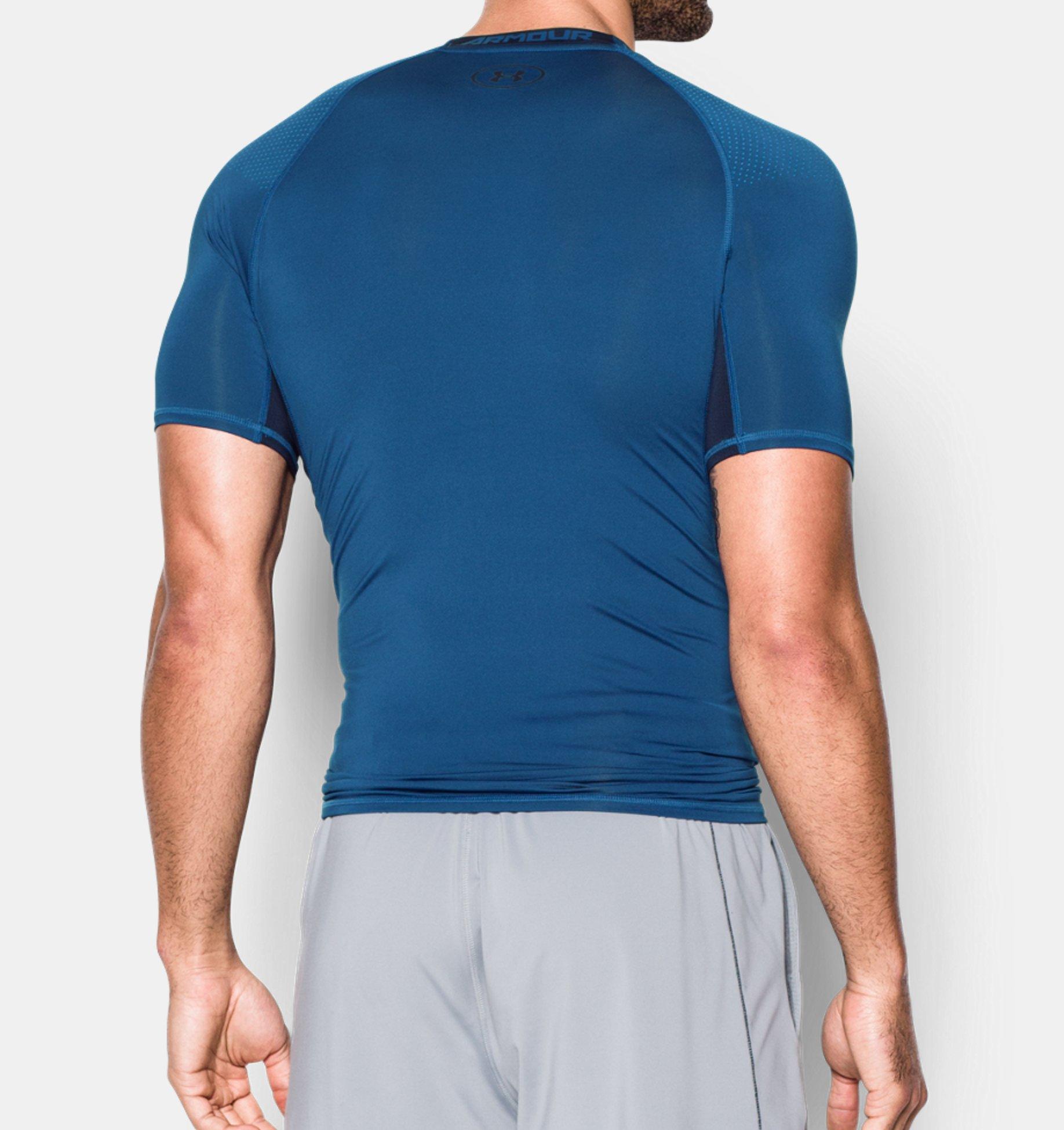 8f8a25667c56e ... Men s UA HeatGear® Armour Printed Short Sleeve Compression Shirt ...