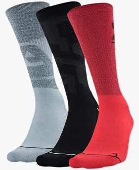 Men's UA Phenom Novelty Crew – 3-Pack  Socks