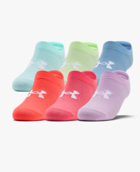 Girls' UA Essentials No Show – 6-Pack