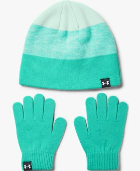 Girls' UA Beanie & Glove Combo