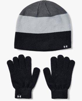 Boys' UA Beanie & Glove Combo