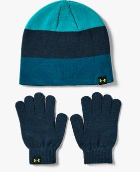 Jongensset beanie en handschoenen UA