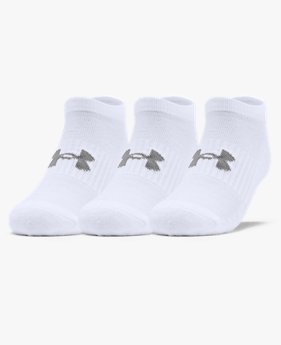 Adult UA Training Cotton No Show Socks 3-Pack