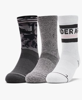 Women's UA Phenom Novelty Crew – 3-Pack Socks